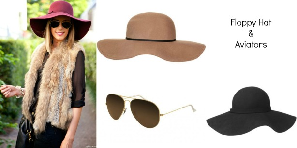 floppy hat and aviators